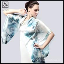 Nueva bufanda impresa digital de seda del 100%