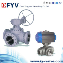 Electric Drived Three-Way Floating Ball Valve