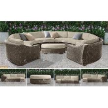 ALAND COLLECTION - Resina PE Poly Rattan sofá de mimbre sintético forma C 2017 mejor venta de muebles de jardín al aire libre