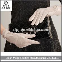 Nuevos guantes de cuero de las mujeres del precio bajo de la manera del diseño 2016