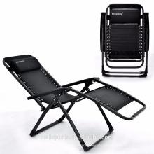 Plegable silla de playa plegable silla de gravedad cero uso de silla de jardín al aire libre / jardín / interior