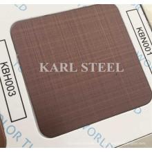 Hoja de rayita de color de acero inoxidable 430 Kbh003 para materiales de decoración