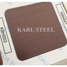 201 Stainless Steel Color Hairline Kbh003 Sheet for Decoration Materials