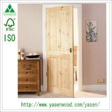 Porte en bois de pin noueux de conception moderne