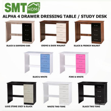 High Gloss with 4 Drawer Dressing Table Study Desk Modern Bedroom Units