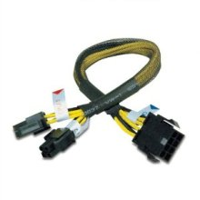 Câble de fil d'extension de 30cm 8pin à 4 + 4pin PSU