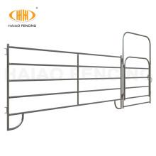 2021 new arrival 6-20ft custom-made length round steel tube livestock horse corral fence panels for America