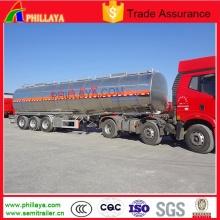 3axle Milk Water Liquid Food Transport Aluminum Tanker Semi Trailer