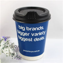 Double Wall Paper Cup with Lids for Coffee 12oz