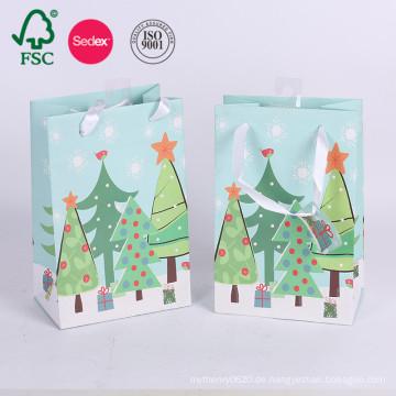 Gewohnheit druckte Weihnachtshochzeits-Einkaufen-Papiertüte für Geschenk
