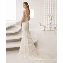 Hot Seller Applique Lace Shoulder Beading Wedding Dress