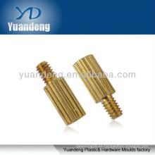 Destornilladores con cabeza moleteada / piezas de latón / Soporte de latón moleteado / inserto de latón