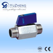 Válvula de esfera de aço inoxidável M / M Thread Mini
