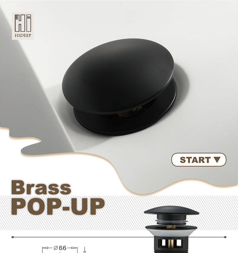 Black Paint Pop Up Drain