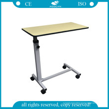 Tableau réglable en bois d'hôpital réglable par chevet le moins cher (AG-OBT001B)