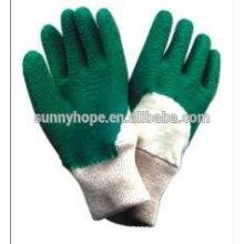 Fabricantes de luvas revestidas de látex verde resistentes ao sunnyhope