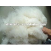 Mongolian 100%cashmere fibre natural white 16.5mic/32-34mm factory