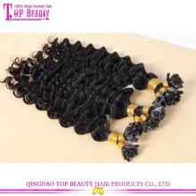 Wholesale cheap top quality unprocessed brazilian deep wave virgin hair u tip hair extension