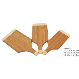 2-Tone Paddle Bamboo Cutting Board 3 piezas