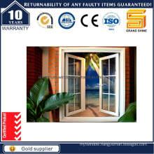 Economy Powder Coating Grey Aluminum Casement Window