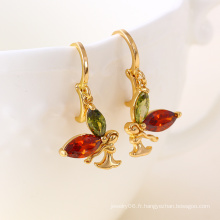 Fashion Butterfly 18k Bijoux en or CZ Fashion Earring