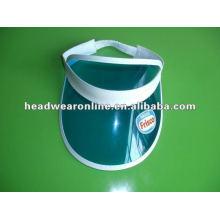 plastic pvc sun visor cap