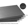 Folhas de Fibra de Carbono Totalmente Duráveis 3K Hobbycarbon 2.0mm