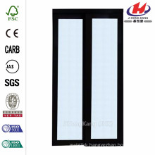 72 in. x 80 in. 2230 Series Composite Espresso 1-Lite Tempered Frosted Glass Sliding Door