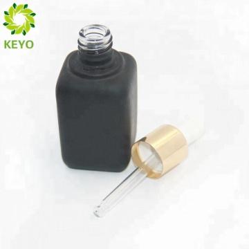 Drucken Logo Dropper Roségold Flaschenverschluss Glasflasche mit Push Top Tropfer 1 Unze