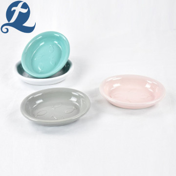 Mode 6,5 Zoll Keramik Oval Pet Bowl