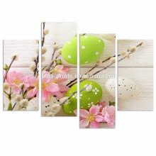 Современная картина на холсте / цветные яйца Фото печать на холсте / Happy Easter Framed Canvas Artwork