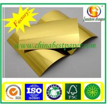 Gold cardboard for making man′s perfume packaging box