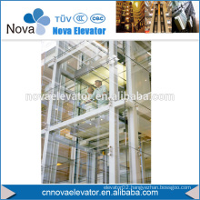 1000KGS, 1.75m/s MRL Sightseeing Lift, Panoramic Lift, Glass Lift
