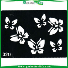 China temporales Glitter Tattoo mariposas plantilla (11 * 8cm)