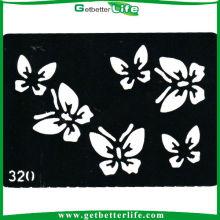 China temporária Glitter tatuagem borboletas estêncil (11 * 8cm)