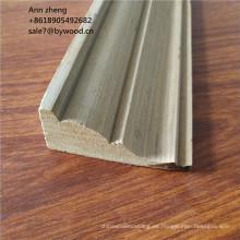 Techo de madera de teca de reconocimiento de molduras de cornisa molduras de corona molduras de techo decorativas de madera