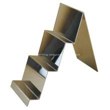 Mirror Polished Stainless Steel Wallet Display Rack