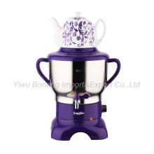 Sf270-588 (purple) Turkish Samovar, Electric Kettle, Russian Samovar with Ceramic Teapot