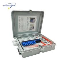 FTTH0212A ABS matériel 2 ports d'entrée 12 sortie ports ingénieur en plastique mural fibre optique ODF