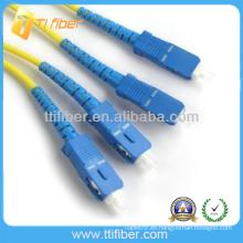 SC singlemode 9 / 125um de alta calidad Fibra óptica patch cord