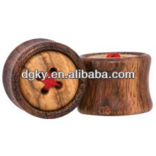Button wood swimming ear plugs