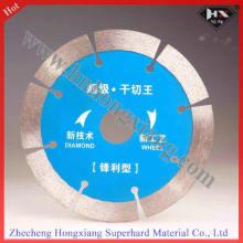 Disco de corte de diamante sinterizado de 250 mm para uso en granito de mármol