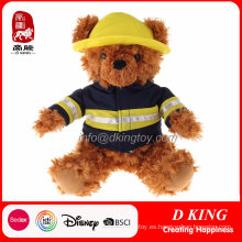 Custom Firemen Uniform Stuffed Teddy Bear Peluche