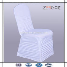 2016 Popular Cheapest Wedding Used White Pleated Spandex Chair Cover