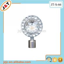 flexible hollow metal curtain rod with diamond curtain finials