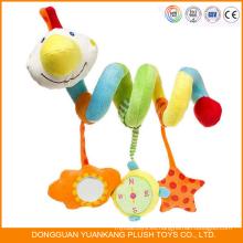 Juguetes infantiles de la primavera del bebé de encargo de la felpa del bebé