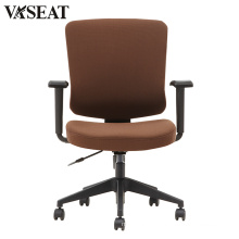 New design 2D adjustable armrest multifunctional fabric visitor chair
