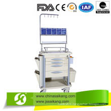 Comfortable Utility Nursing Cart with Four Columns