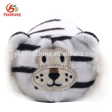 Juguete de tigre lindo y suave felpa blanco aprobado por ICTI