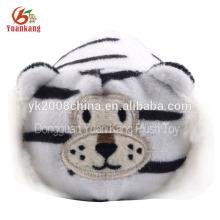 ICTI aprovado plush macio branco tigre filhote de brinquedo
